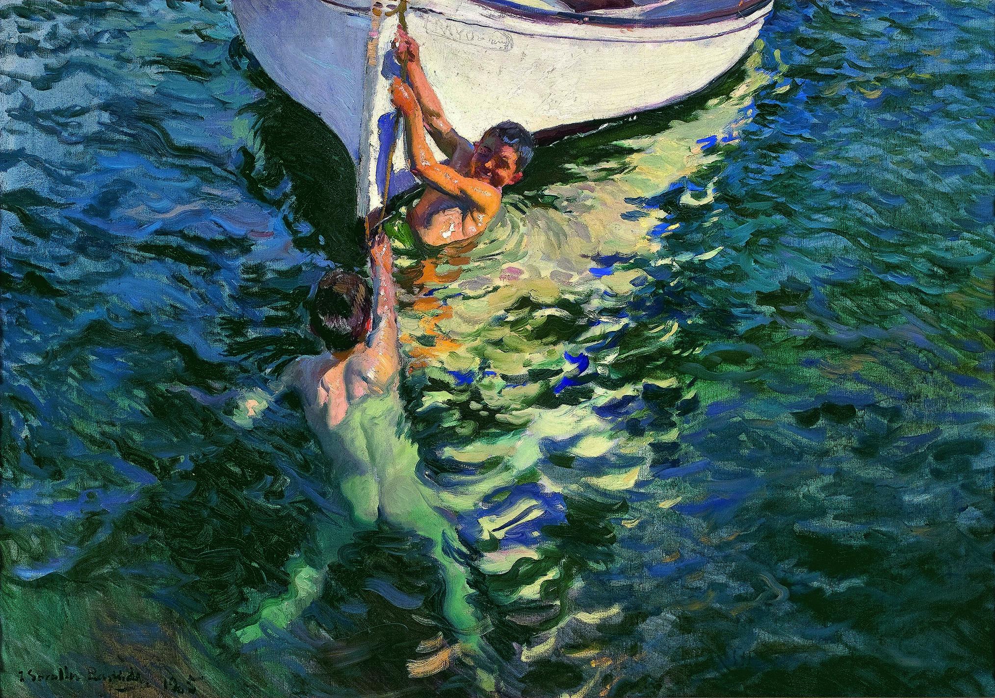 El bote blanco. Jávea. 1905. Óleo sobre lienzo. 105X150cm. Colección particular.