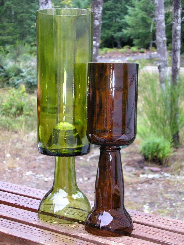 Formas de reciclaje de botellas de vino y de vidrio - Lamparas con botes de cristal ...