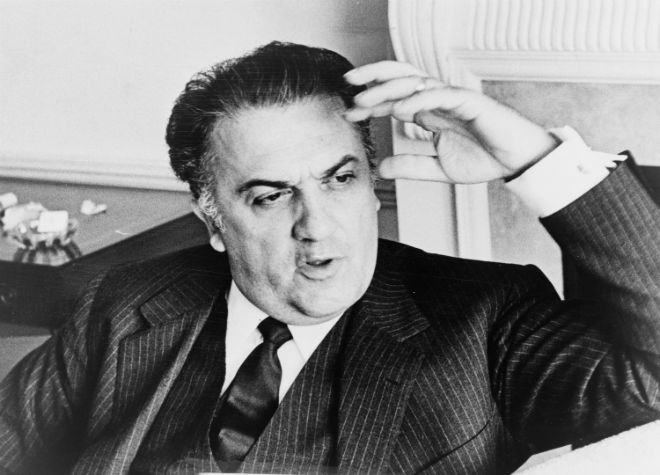 Federico Fellini blanco negro