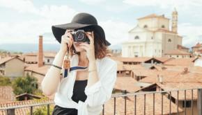 turista chica fotografia rioja
