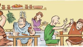 consumo-vino-roma-ilustracion