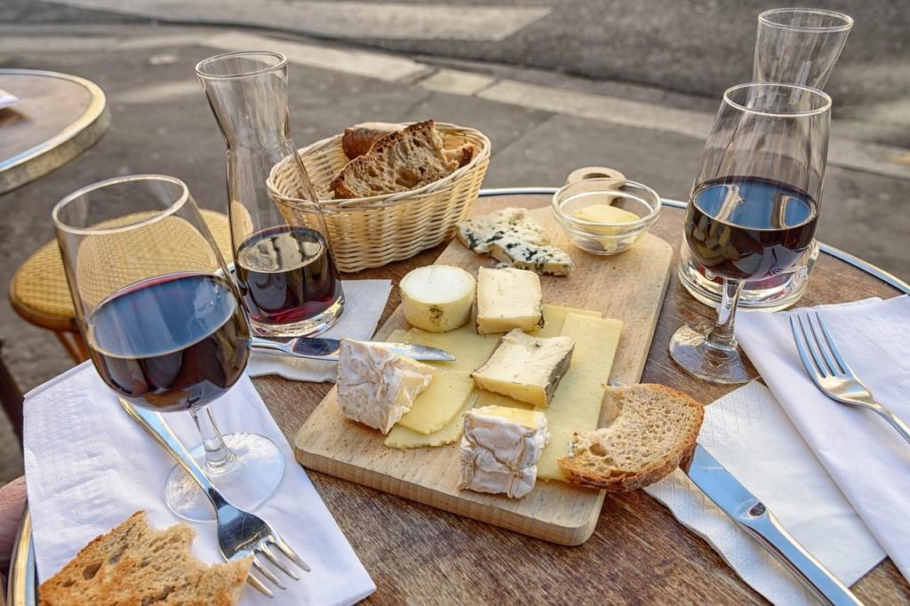 maridaje vino queso tabla