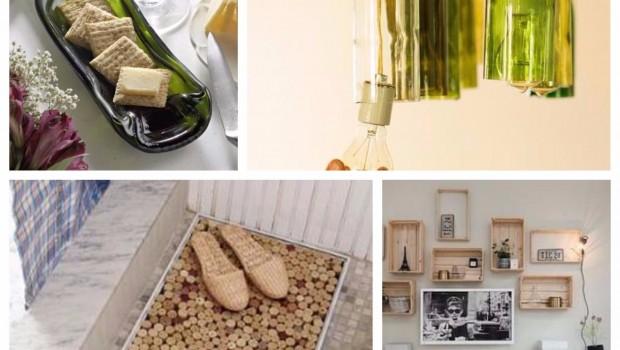 collage decoracion elementos vino