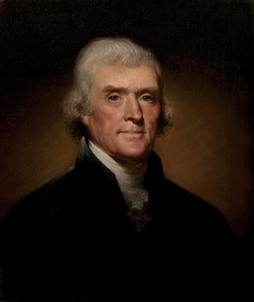 presidente thomas jefferson retrato