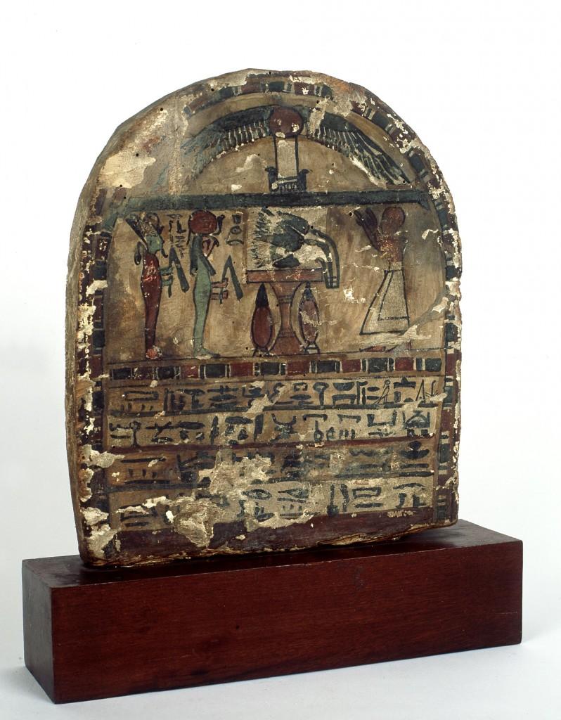 estela funeraria inscripcion jeroglífica