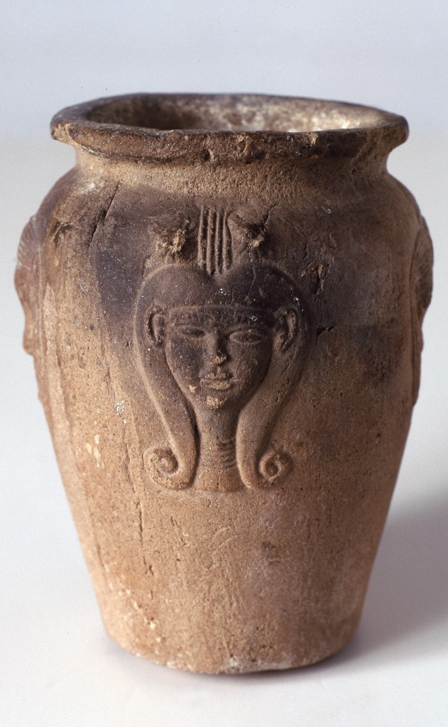 vaso egipcio diosa hathor
