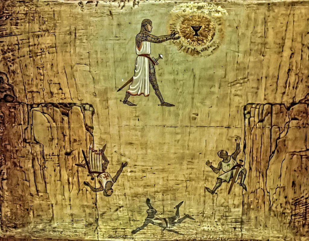pintura dorada romana vino