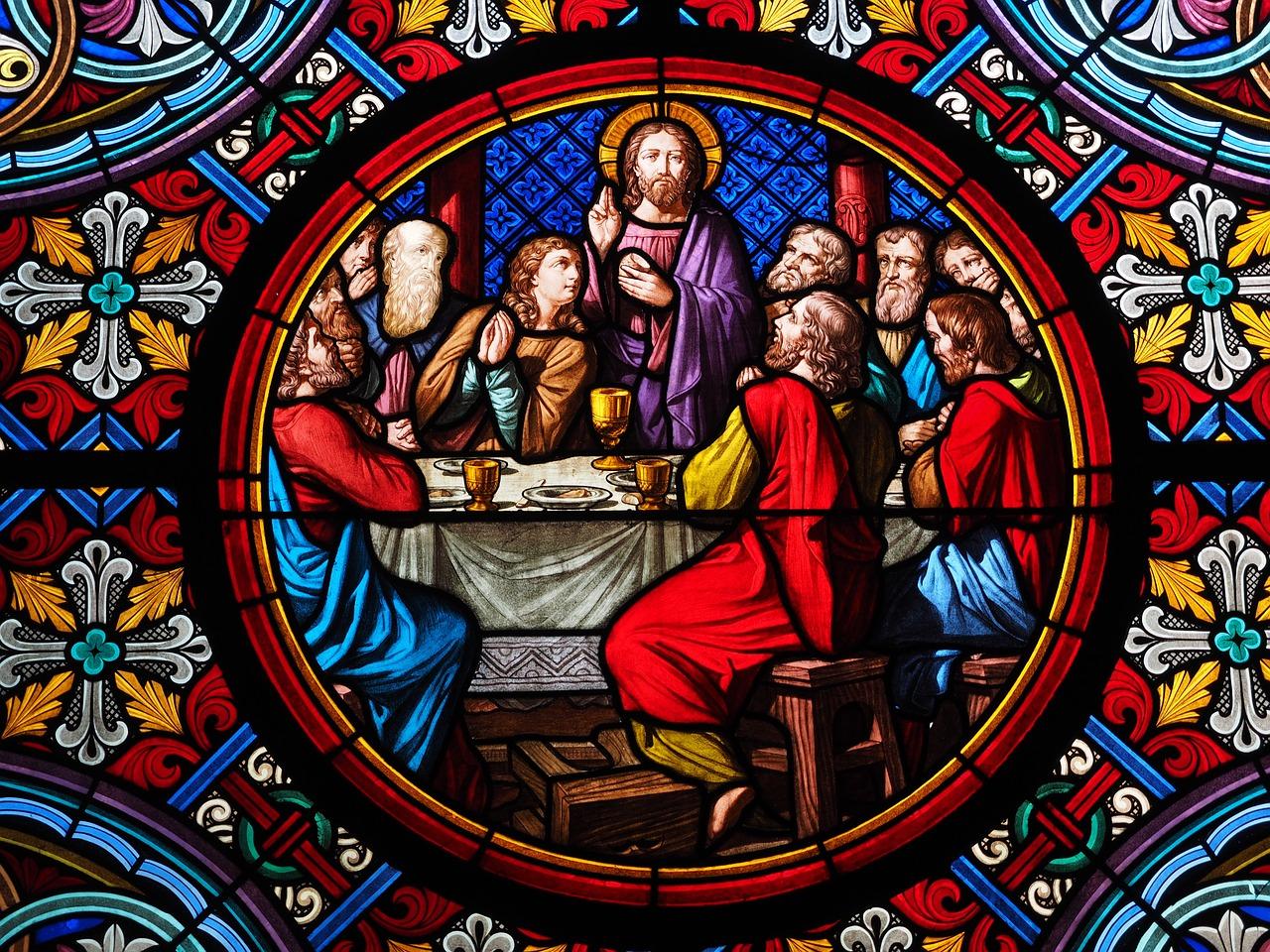 vidriera jesus ultima cena