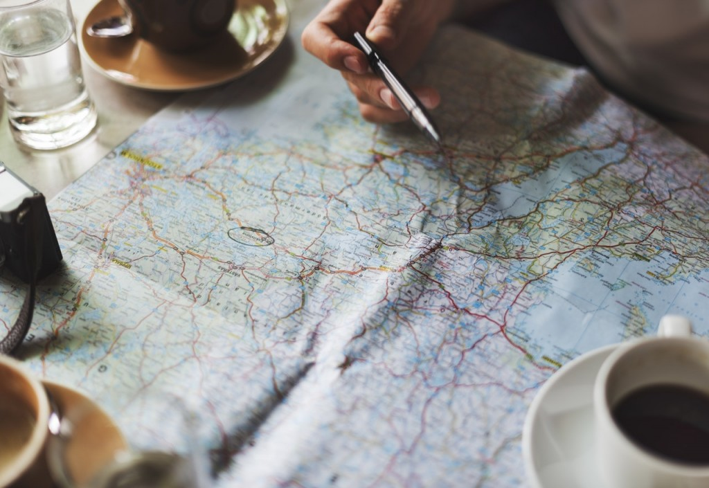 mapa cafe boligrafo