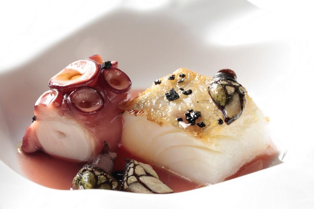 plato pulpo pescado vivanco