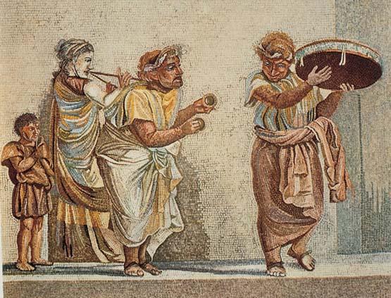 comedia mosaico vino