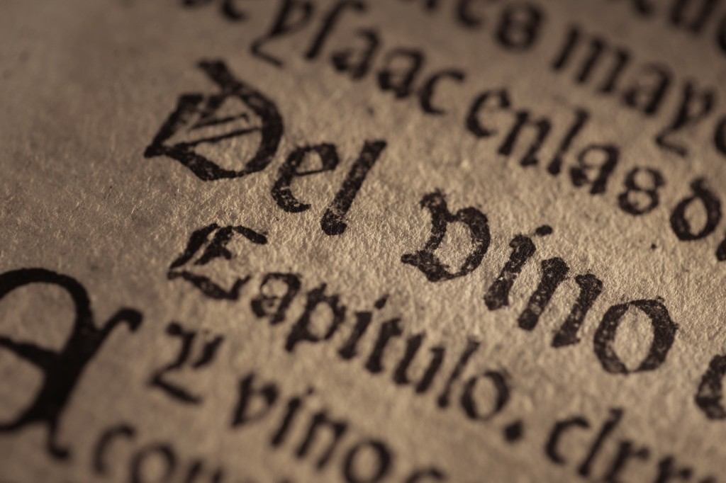 de vino texto antiguo