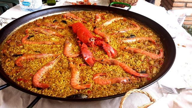 paella bogavante arroz