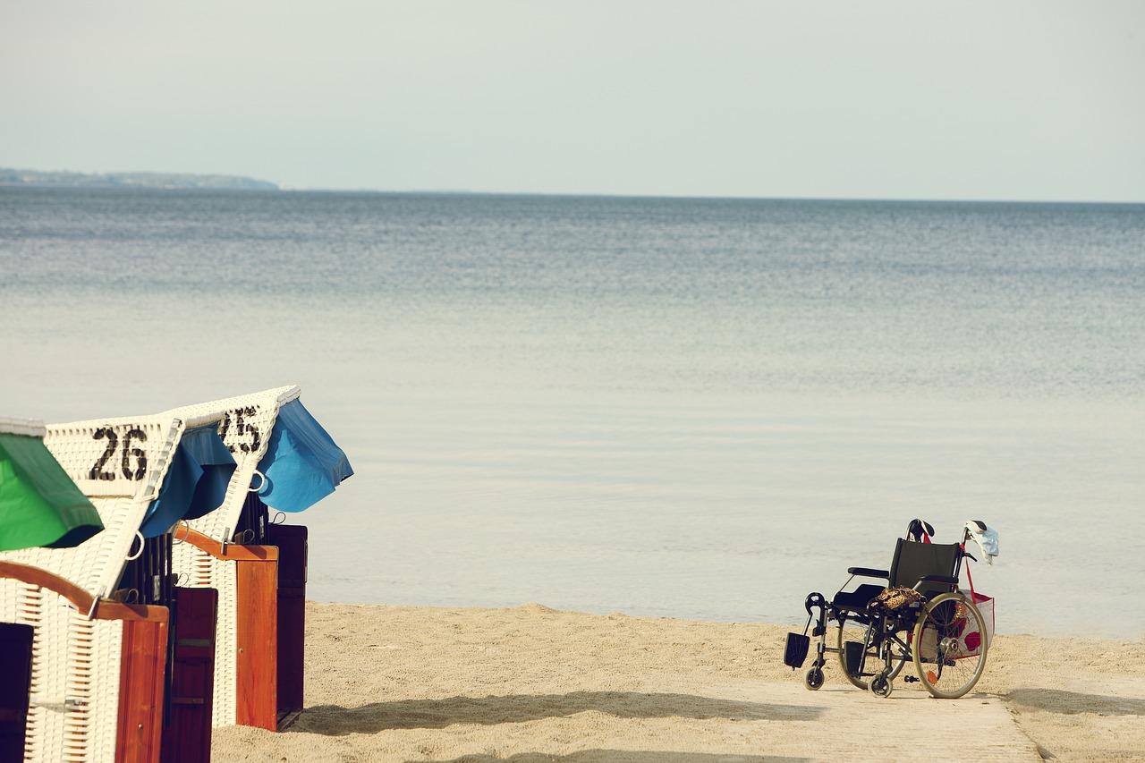 silla ruedas playa