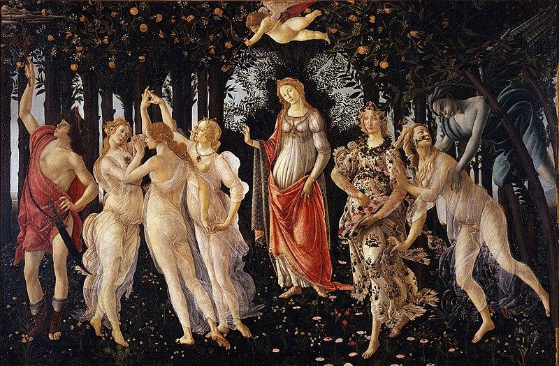 La Primavera de Sandro Botticelli (1480-81)
