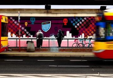 street art calle autobuses