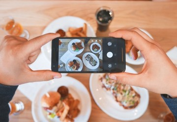 foto cenital comida instagram