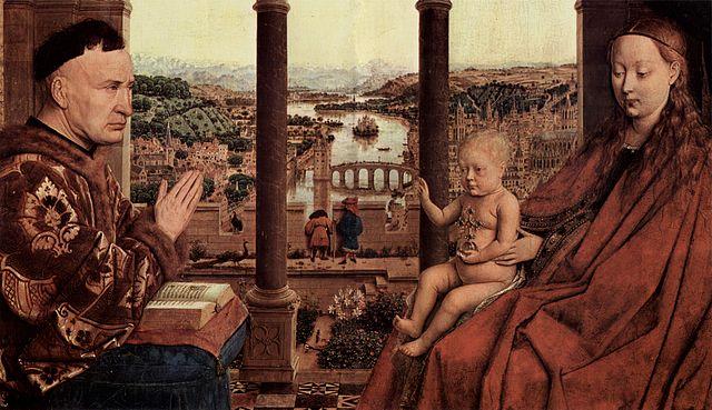 La Virgen con el canciller Rolin - Jan van Eyck (Museo Louvre)