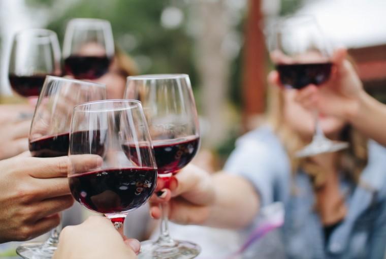 brindis vino tinto
