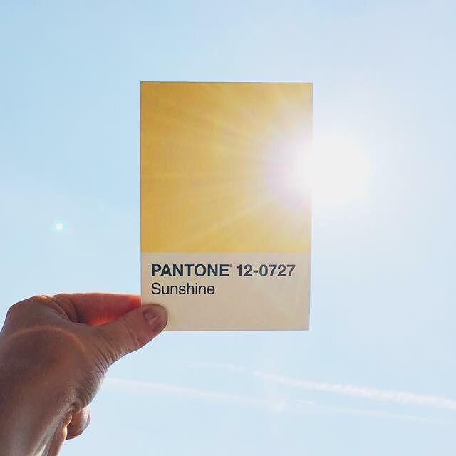 pantone sunshine