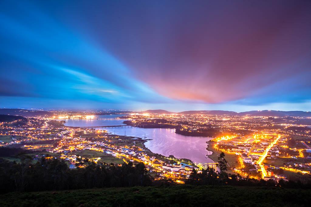 vistas nocturnas ciudad